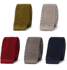 Charvet - Set of Five 4.5cm Knitted Silk Ties