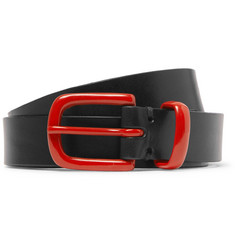 Oliver Spencer 2.5cm Black Coniston Leather Belt