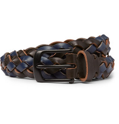Oliver Spencer - 3cm Fishtail Woven Leather Belt