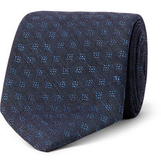 Oliver Spencer 8cm Deacon Cotton and Linen-Blend Jacquard Tie