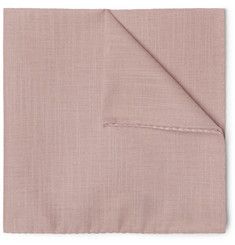 Oliver Spencer Elcot Slub Cotton Pocket Square