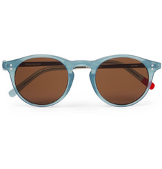 Oliver Spencer William Round-Frame Acetate and Silver-Tone Sunglasses
