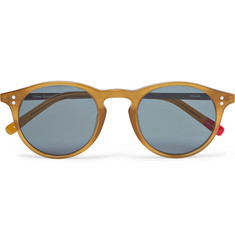 Oliver Spencer - William Round-Frame Acetate and Silver-Tone Sunglasses