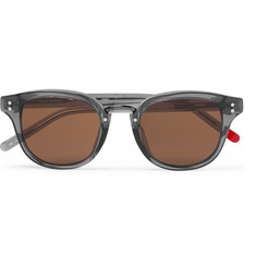 Oliver Spencer - Conrad Round-Frame Acetate and Gunmetal-Tone Sunglasses