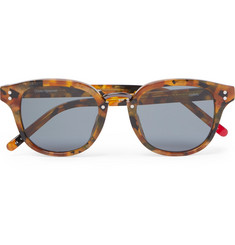 Oliver Spencer - Conrad Round-Frame Tortoiseshell Acetate and Gunmetal-Tone Sunglasses