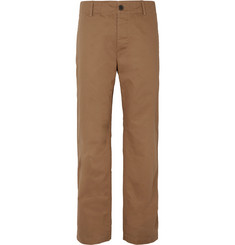 Mr P. - Wide-Leg Herringbone Cotton Chinos
