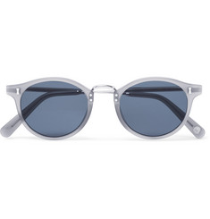 Cubitts Flaxman Round-Frame Acetate and Silver-Tone Sunglasses