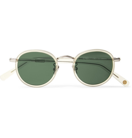 d5b0867c567 Cubitts Gifford Round-Frame Acetate And Silver-Tone Sunglasses In Clear