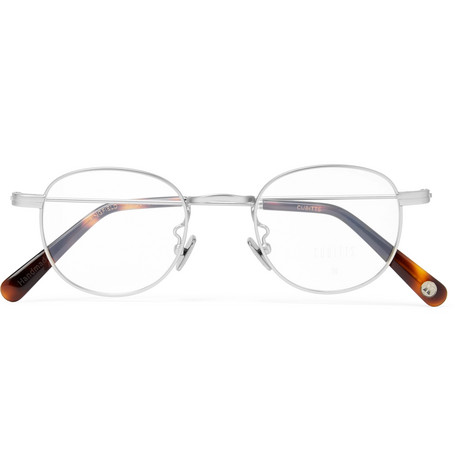 cubitts male bingfield roundframe silvertone optical glasses