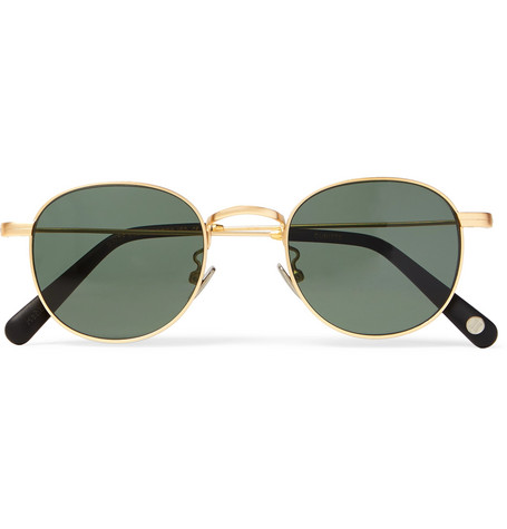 Cubitts Guilford Round-frame Brushed Gold-tone Sunglasses - Gold VnSW7