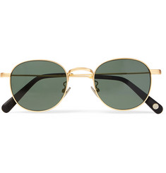 Cubitts Bingfield Round-Frame Gold-Tone Sunglasses