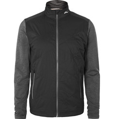 Kjus Golf - Retention Panelled Quilted Nylon and Mélange Stretch-Jersey Golf Jacket