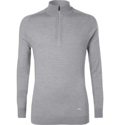 Kjus Golf - Kulm Slim-Fit Merino Wool Half-Zip Golf Sweater