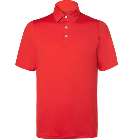 KJUS SHELTER DWR-COATED PIQUÉ GOLF POLO SHIRT
