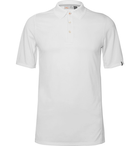 KJUS SEAPOINT MESH-PANELLED JERSEY GOLF POLO SHIRT