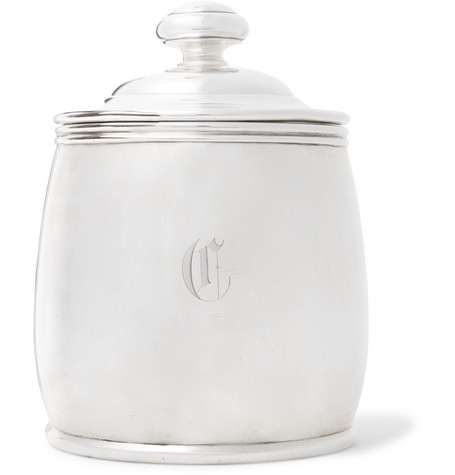 FOUNDWELL Engraved Sterling Silver Cigar Humidor
