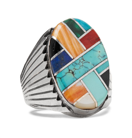 FOUNDWELL STERLING SILVER MULTI-STONE RING