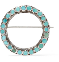 Foundwell Sterling Silver Turquoise Lapel Pin