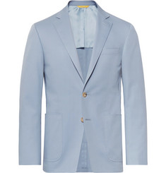 Canali Light-Blue Kei Slim-Fit Stretch-Cotton Suit Jacket