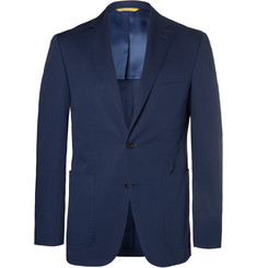 Canali Navy Slim-Fit Stretch-Cotton Suit Jacket