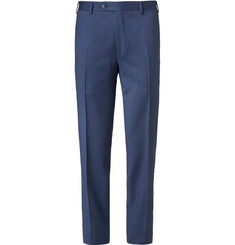 Canali - Navy Slim-Fit Mélange Wool Suit Trousers