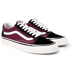 Vans Anaheim Old Skool 36 Leather-Trimmed Canvas and Suede Sneakers