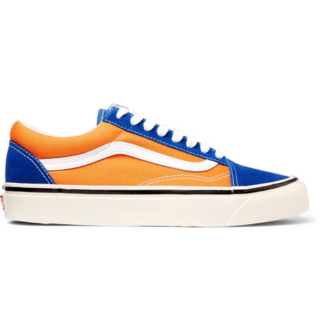 b535848ee1 Vans Anaheim Old Skool 36 Leather-Trimmed Canvas And Suede Sneakers In Blue