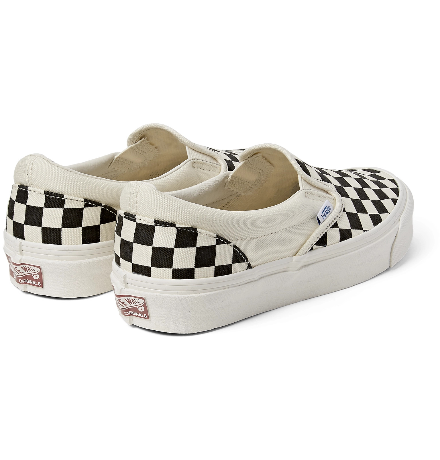 d86b96892431bb Vans - OG Classic LX Checkerboard Canvas Slip-On Sneakers