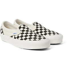 Vans - OG Classic LX Checkerboard Canvas Slip-On Sneakers