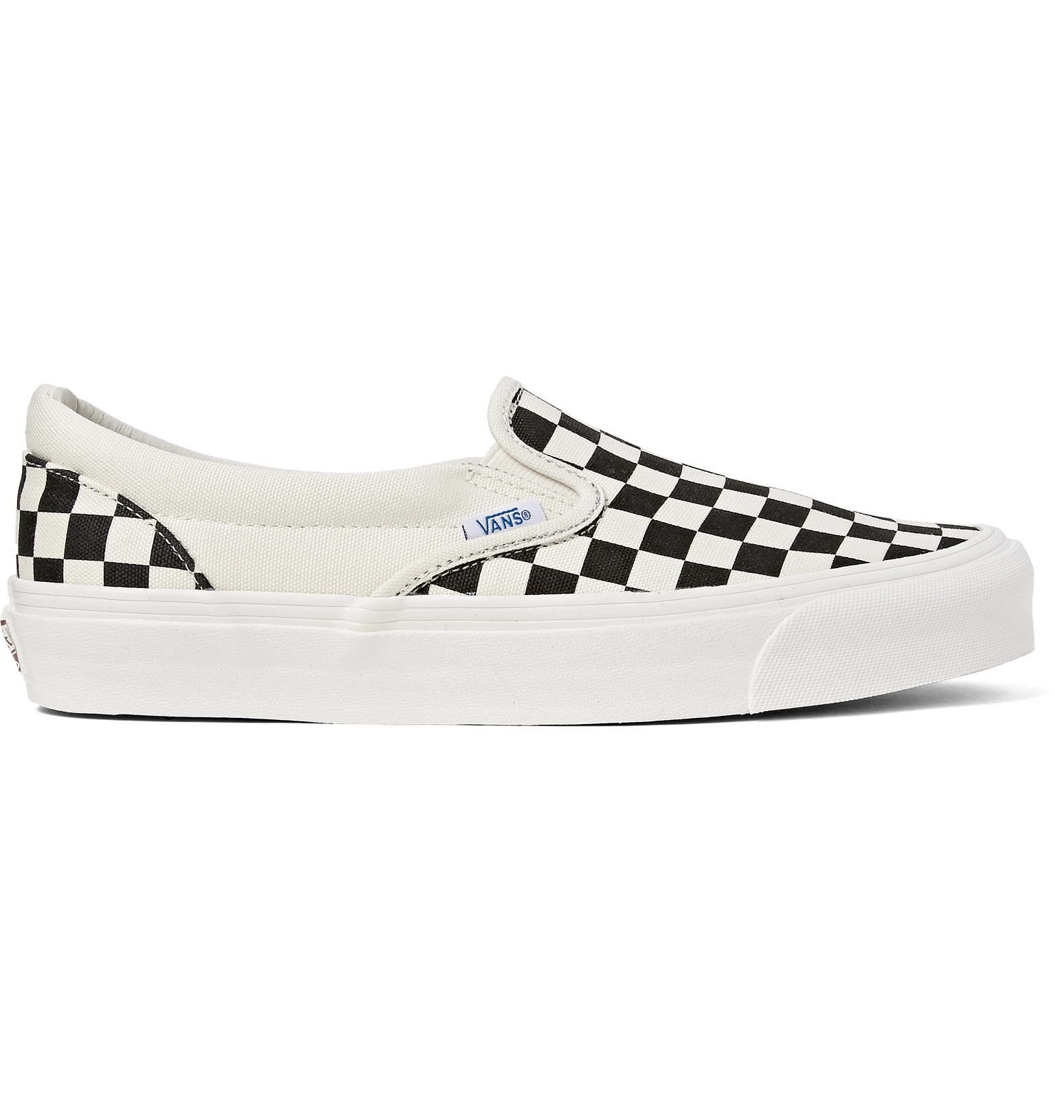 Vans - OG Classic LX Checkerboard Canvas Slip-On Sneakers 18a50f403