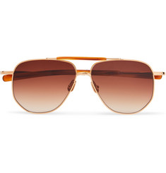 Max Pittion - Coleman Avaitor-Style Gold-Tone Metal Sunglasses