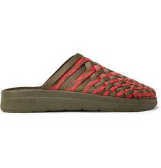 Malibu + Missoni Colony Woven Nylon-Webbing Sandals