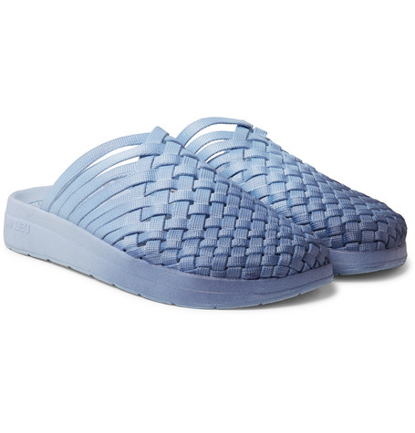 MALIBU Missoni Colony Woven Dégradé Nylon-Webbing Sandals in Navy
