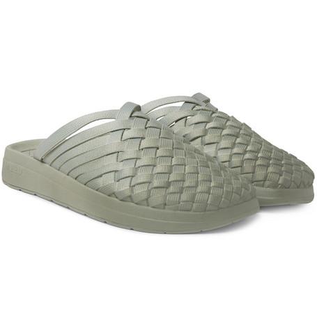 MALIBU Missoni Colony Woven Dégradé Nylon-Webbing Sandals in Green