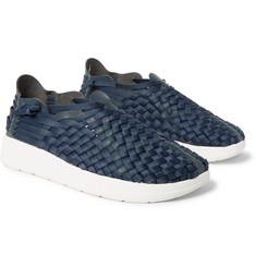 Malibu - Latigo Woven Faux Leather and Nylon-Webbing Shoes