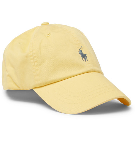 Cotton-twill Baseball Cap - Yellow