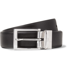Polo Ralph Lauren 3cm Black and Dark-Brown Reversible Leather Belt