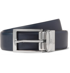 Polo Ralph Lauren 3cm Black and Navy Reversible Leather Belt