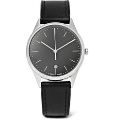 Uniform Wares - C36 Stainless Steel and Leather Watch