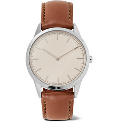 Uniform Wares - C35 Stainless Steel and Leather Watch