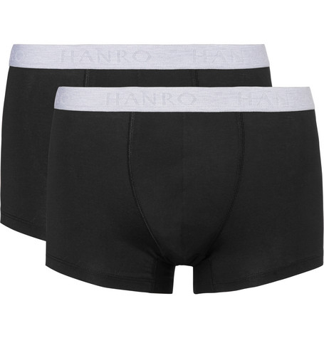 Two-pack Stretch-cotton Boxer Briefs - Black