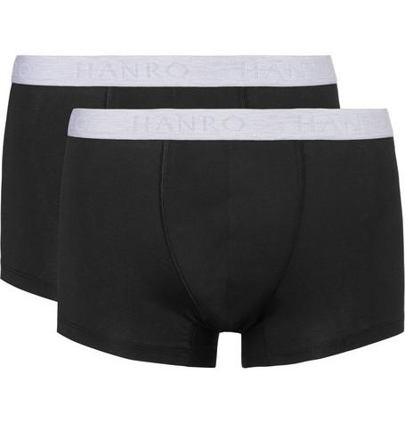 Two-pack Stretch-cotton Boxer Briefs - Black