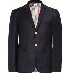 Thom Browne Midnight-Blue Slim-Fit Wool-Twill Suit Jacket