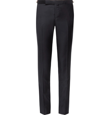 Thom Browne Midnight-blue Skinny-fit Wool-twill Suit Trousers In Navy