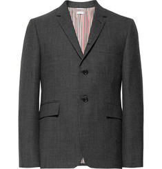 Thom Browne Charcoal Slim-Fit Wool Blazer