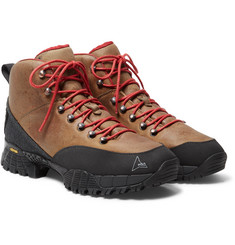 ROA - Andreas Rubber-Trimmed Distressed Nubuck Hiking Boots