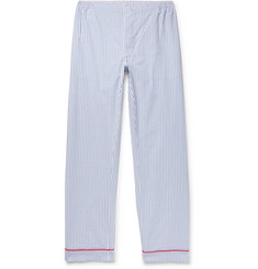 Sleepy Jones - Marcel Striped Textured-Cotton Pyjama Trousers