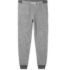 J.Crew Slim-Fit Tapered Mélange Fleece-Back Cotton-Blend Jersey Sweatpants