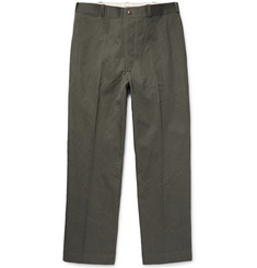 Chimala Wrinkled Cotton-Twill Chinos