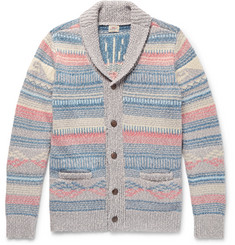 Faherty - Sun & Wave Slim-Fit Shawl-Collar Cotton-Blend Cardigan